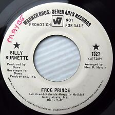 Billy Burnette Frog prince One extreme to another Promo sunshine pop 45 e5281