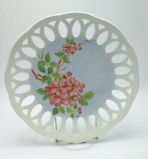 Cherry fruit blossom Norwegian Plate Floral Jacobsen 1977 Norway Reticulated
