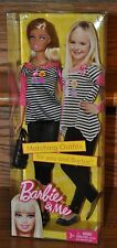 Barbie and Me Matching Outfits Fashion Doll Black White Stripe 2010 V8905 NEW