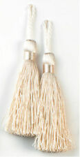 "E5524 ~TASSELS IVORY SET ~ OF ~ TWO (2) ~ 3.75"" SEWING CRAFTS @ GLORY'S :)"