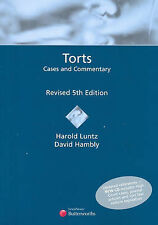 Torts: Cases and Commentary by Harold Luntz, David Hambly (Mixed media...