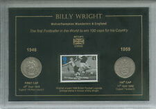 Billy Wright Wolverhampton Wanderers Wolves 100 Caps for England Coin Gift Set