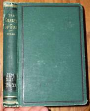 HORATIUS BONAR The Christ of God 1874 Rare Hymn Writer