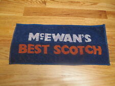 Vintage 70s McEwan'S Best Scotch Woven Cloth Bar Room 17 x 8 Towel