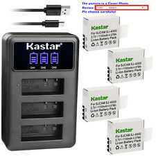 Kastar Battery LCD Triple Charger for Eken PG1050 & Eken H9 Eken H9R Camera