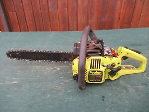 "Vintage POULAN 2150 Chainsaw Chain Saw with 15"" Bar FOR PARTS"