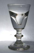 VICTORIAN GLASS  DECEPTION  DICEPTIVE TOASTING DRAM