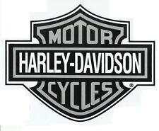 SALE RARE HARLEY-DAVIDSON STICKER 21 x 16.5cm Silver/Black