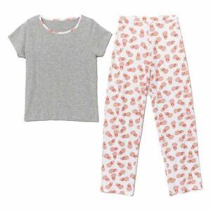 AVON Women's Essentials Pineapple Print Pyjamas/pjs Size 8-10 New in Pack (T)