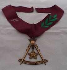 Freemason Masonic Scottish Rite 14th Degree Jewel with Collar