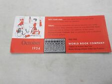 INK BLOTTER 1954 WORLD BOOK CO. ADVERTISING
