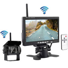 "7"" LCD Moniteur Car Rear View Kit+IR LED sans fil Caméra de recul Bus Truck Neuf"