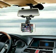 For Cell Phone Auto Car Rear View Mirror Universal Mount Stand Holder Cradle