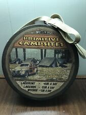 Decorative Rustic Camping Advertising Canteen Tin Woody Station Wagon EXC.!
