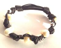 Pearl Freshwater Bracelet River Gemstone Jewelry White Stretch Vintage Natural