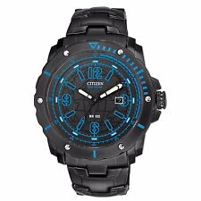 Citizen Eco-Drive Men's BM7277-50E Blue Accents Black Dial Sport 46mm Watch