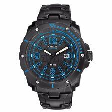 Citizen Eco-Drive Men's BM7277-50E Blue Accents Black Dial Sport 46mm Watch
