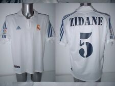 Real Madrid ZIDANE Adidas Adult L France Shirt Jersey Football Soccer 2001 Top