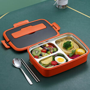 Bento Box Workers With 3 Compartment 1000ml For Kids Adults Leak Proof Student