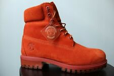 """Timberland 6"""" Premium Waterproof Suede Boots """"Autumn Leaf"""" Rust SZ.8 TB0A18PO"""