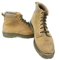 Vintage HAWKINS Women`s Hiking Leather Boots Tan Brown Sz 7 US / 5 UK