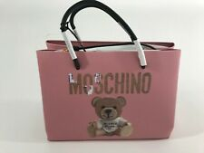 AW17 Moschino Couture Jeremy Scott Cardboard Teddy Bear Pink Shopper w/Black