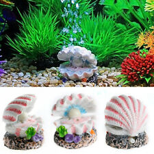 Aquarium Decor Shell Pearl & Air Stone Fish Tank Ornament Shell Bubbler Bubbling