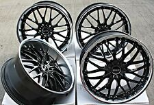 "20"" CRUIZE 190 BP ALLOY WHEELS STAGGERED BLACK DEEP DISH 5X120 20 INCH ALLOYS"