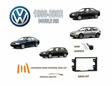 1998-2002 VOLKSWAGEN GOLF GTI JETTA PASSAT Double DIN Dash Kit, Wire Harness