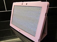 Pink PU Leather Carry Case/Cover/Stand for Asus Eee Pad TF201 Transformer Prime