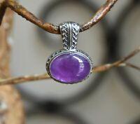 Carolyn Pollack Relios purple oval AMETHYST gemstone PENDANT Sterling Silver 925