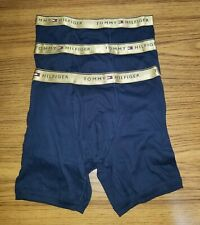 Tommy Hilfiger Cotton Stretch Boxer Briefs 3 Pack Navy Blue Size Medium