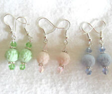 Hook Glass Mixed Metals Costume Earrings