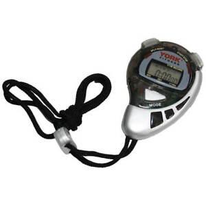 York Stopwatch Sports Split Timer Training Alarm Fitness Stop Watch with Strap