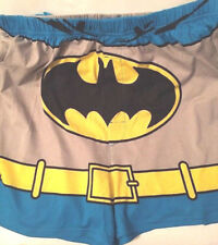 """Boxer Batman mens size L new waist 36-38"""" cotton Briefly Stated cape attached"""