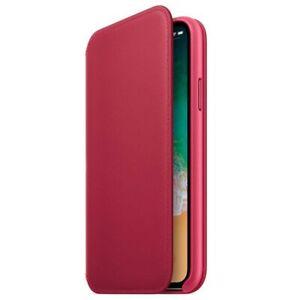 Genuine  Apple Leather Folio Flip Case for Apple iPhone XS / X