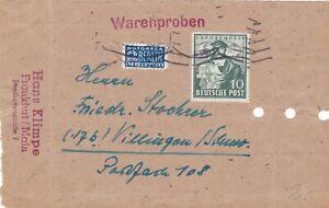 Alliierte Besetzung MiNr 103 a Briefstück von Frankfurt nach Villingen