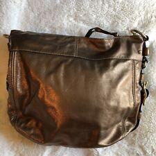 COACH 12669 Zoe Purse Signature Hobo Shoulder Handbag   Bronze Gold Satchel