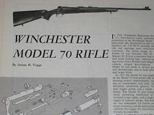WINCHESTER PRE-64 MODEL 70 RIFLE EXPLODED VIEW