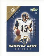 2002 Score Numbers Game #1 Kurt Warner Rams /4830