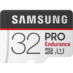 Samsung PRO Endurance 32GB microSDXC 100MB/s UHS-I  Memory Card with Adapter-UK