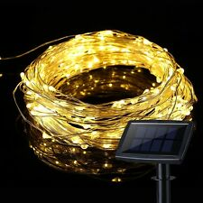 15M Solar powered 150LED Fairy String Light Copper Wire Waterproof Outdoor Yard