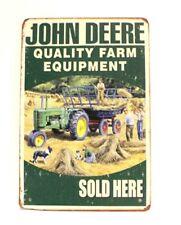 New John Deere Tractors Tin Metal Sign Vintage Ad Style Man Cave Farm Equipment