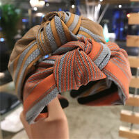 Women's Fabric Tie Headband Hairband Wide Knot Twist Hair Hoop Band Accessories
