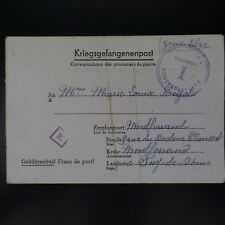 LETTRE PRISONNIER DE GUERRE STALAG VI D -> MONTFERRAND KRIEGSGEFANGENENPOST POW