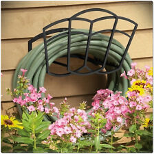 Wall Mounted Hose Hanger Garden Outdoor Patio Metal 150 Ft Water Hoses Holder