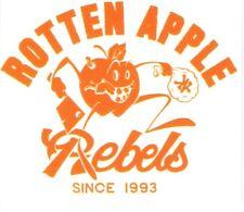 Zoo York Skateboard Sticker Rotten Apple Rebels Orange Transparent 8x7cm