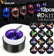 12pcs 9D Cat Eye Gel Polish Chameleon Magnetic UV LED