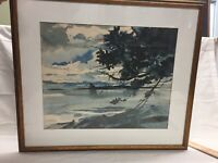 BEAUTIFUL ANDREW WYETH PRINT 'CLOUDS AND SHADOWS' FRAMED OLD DISCONTINUED