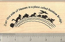 Rainbow Bridge pet loss sympathy rubber stamp K9007 WM